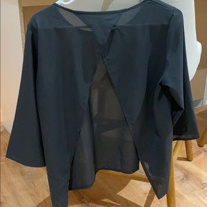 Black sheer top size s/m